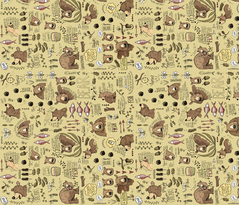 Too Much to Bear - sideways fabric by mulberry_tree on Spoonflower - custom fabric
