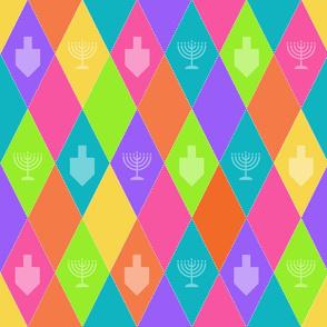 Rainbow Hanukkah Argyle
