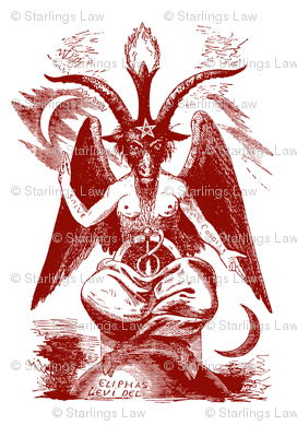 baphomet dark red/white