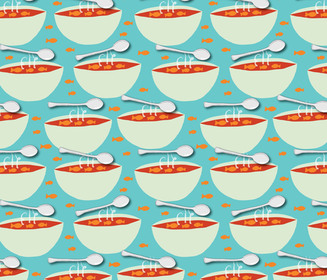 Tomato Soup fabric by cathleenbronsky on Spoonflower - custom fabric