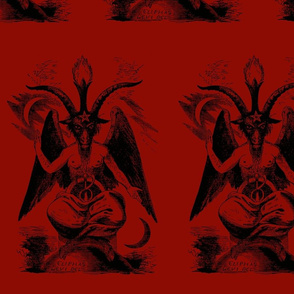 baphomet dark red/black