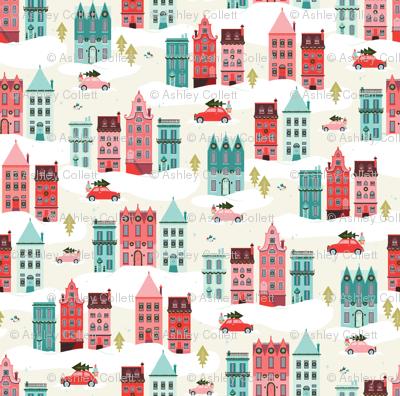 Christmas Row Houses