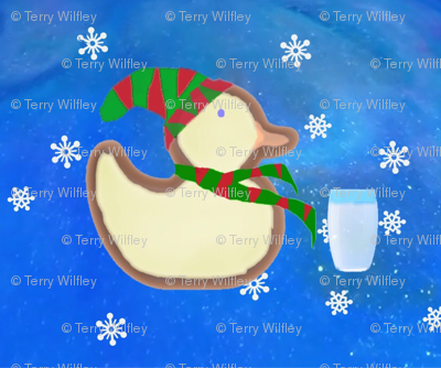 Waiting for Santa - Gingerbread Duck