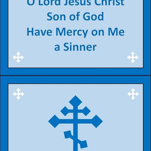 Jesus Prayer Zipper Pocket in Blue