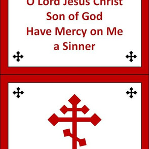 Jesus Prayer Zipper Pocket in Red