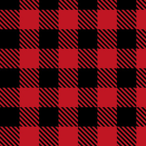 Buffalo Plaid Red and Black