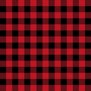Buffalo Plaid Red & Black - Small