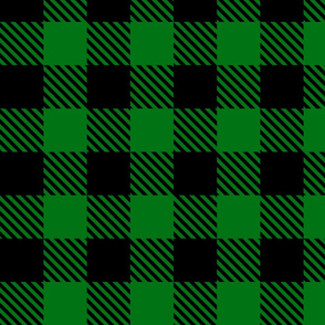 Buffalo Plaid Green & Black