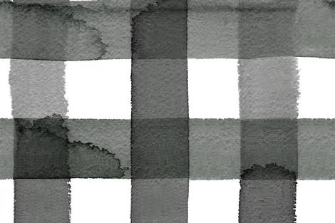 cestlaviv_20x20_largegingham_10_black fabric by @vivsfabulousmess on Spoonflower - custom fabric