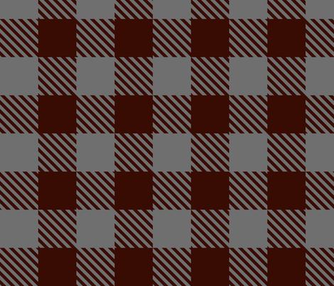 Buffalo Plaid Burgundy & Grey fabric by mariafaithgarcia on Spoonflower - custom fabric