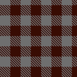 Buffalo Plaid Burgundy & Grey