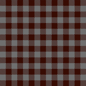 Buffalo Plaid Burgundy Grey Small