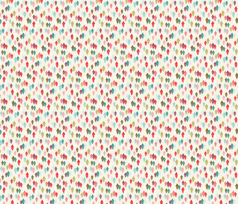 Scandinavian Christmas Trees Cream fabric by acdesign on Spoonflower - custom fabric