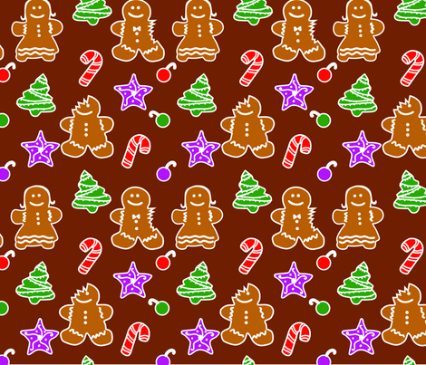 gingerbread fabric by pickled_cactus on Spoonflower - custom fabric