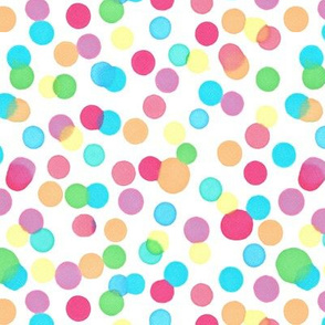 Illustrated Ink Blot Rainbow Confetti Spots Pattern