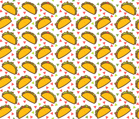 Taco Fiesta fabric by heatherhightdesign on Spoonflower - custom fabric