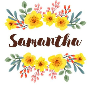Personalized Name - Floral Sunshine - Samantha