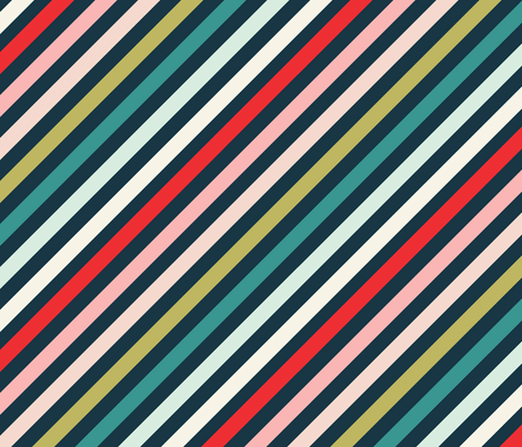 Christmas Multi Color Stripe fabric by acdesign on Spoonflower - custom fabric