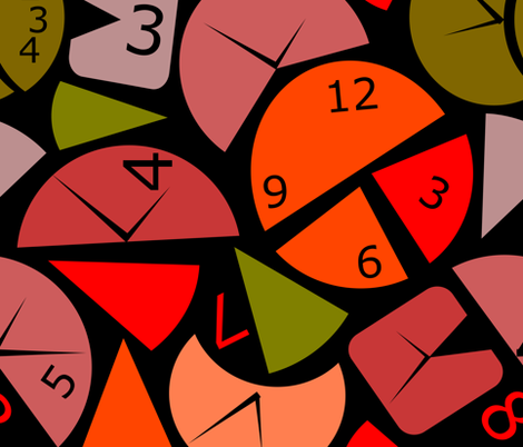 Time  fabric by mariamsol on Spoonflower - custom fabric