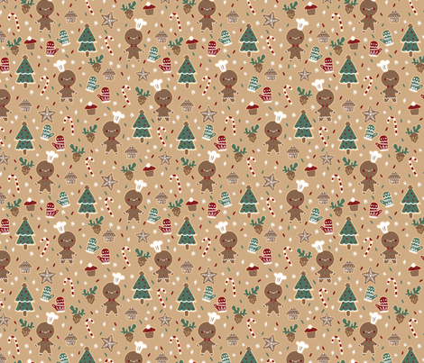 Ginger Breadman fabric by bitto718 on Spoonflower - custom fabric