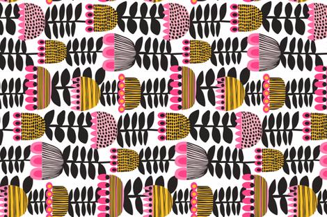 Tulip Time Tea Towel Fat Quarter  fabric by kirstenkatz on Spoonflower - custom fabric