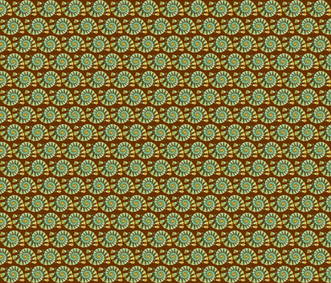 Luminous seashell on a brown background fabric by julia_faranchuk on Spoonflower - custom fabric