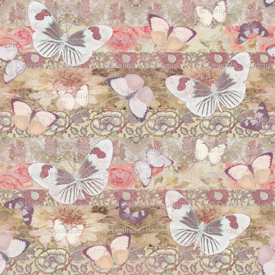 Cream Mauve BUTTERFLY small