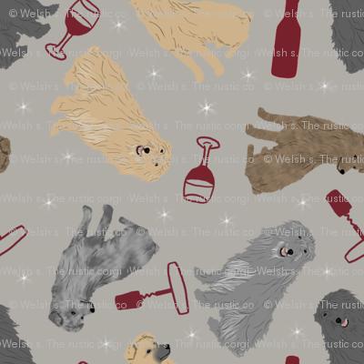 Tiny Pyrenean Shepherds - wine