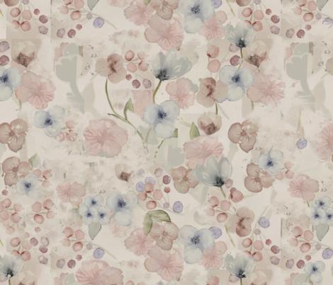 Flowers in pastel tones fabric by monabcn on Spoonflower - custom fabric