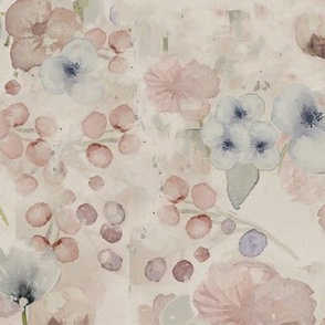 Flowers in pastel tones