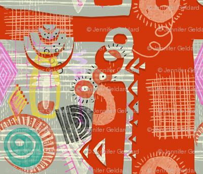Papercut Fragmentation -Orange