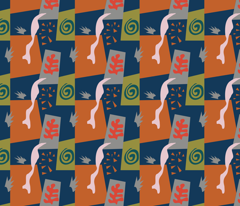 matisse panetone blue fabric by kaldreacollections on Spoonflower - custom fabric