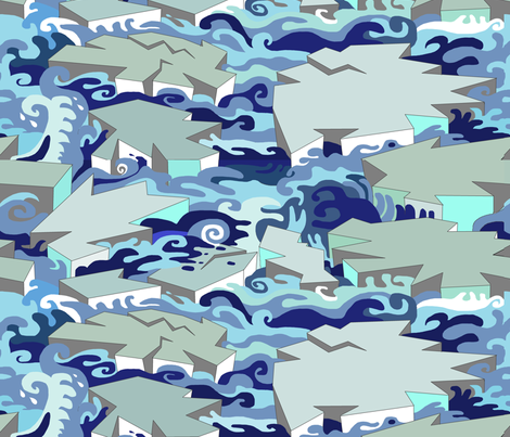 Large Scale Fragmentation of the North Pole fabric by palusalu on Spoonflower - custom fabric