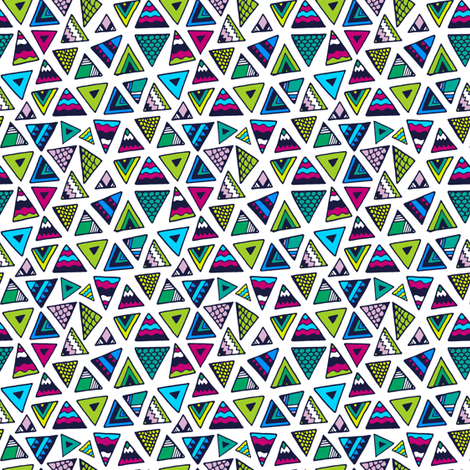 Triangle Tails fabric by rachelashtonillustration on Spoonflower - custom fabric