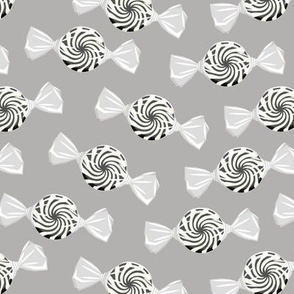 peppermint candy - monochrome