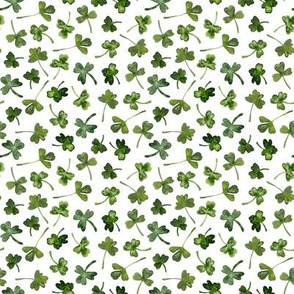 green shamrock leaves
