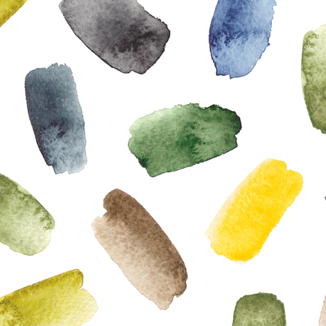 colorful watercolor brush strokes. bigger fabric by alenaganzhela on Spoonflower - custom fabric