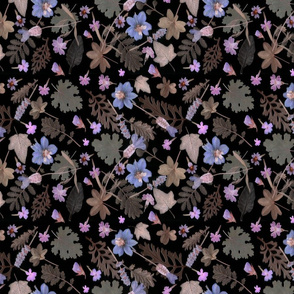 dark night floral