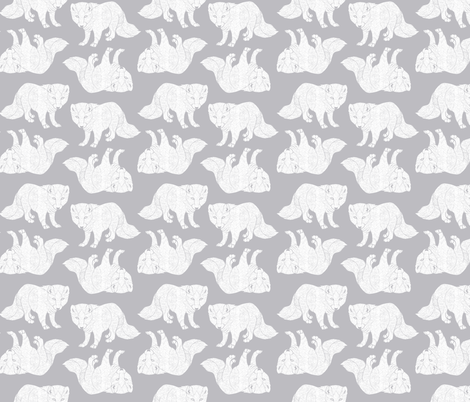 arctic-fox-conkberry-textile fabric by conkberry on Spoonflower - custom fabric