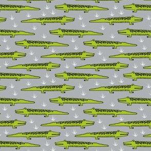 crocodiles (small)// crocodile alligator fabric cute reptiles pattern print andrea lauren fabric andrea lauren design