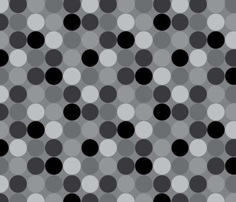 Dottie Grey fabric by nettieandliz on Spoonflower - custom fabric