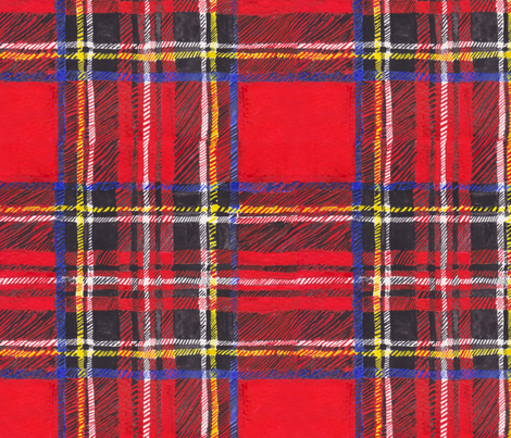 Chefanie Stewart Tartan fabric by chefanie on Spoonflower - custom fabric