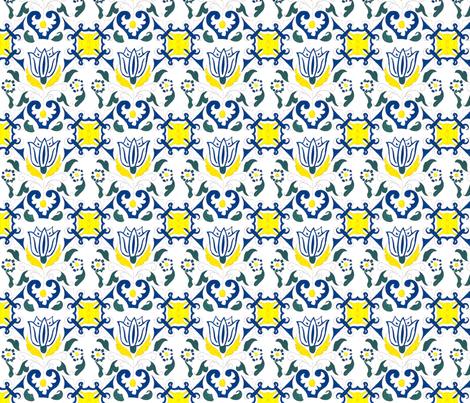 Chefanie Dutch Tulip fabric by chefanie on Spoonflower - custom fabric