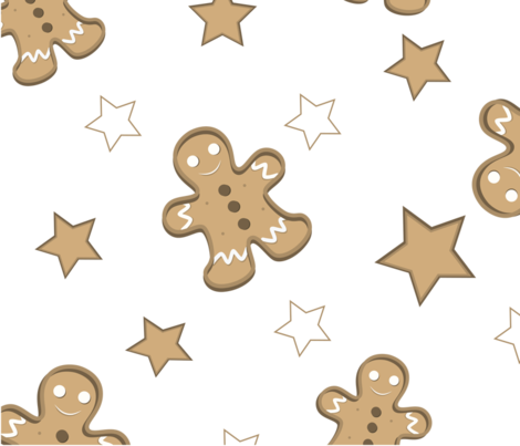 Gingerbread fabric by silviaweigert on Spoonflower - custom fabric