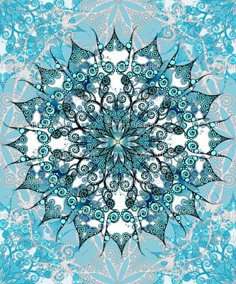 Oriental Mandala in Turquoise