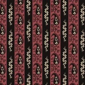 Shawl Stripe No 2 - Madder Pink