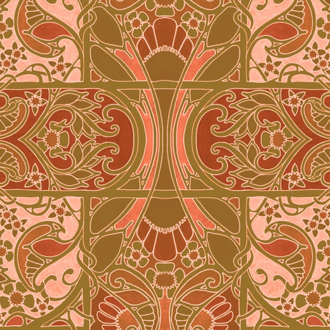 Autumn Melodies fabric by edsel2084 on Spoonflower - custom fabric