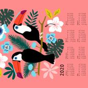 Toucan Floral calendar 2020 coral