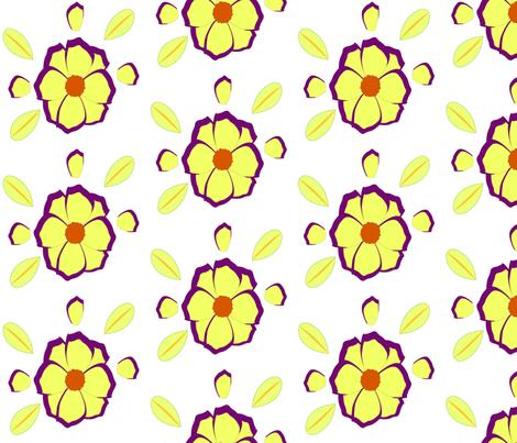 flower fabric by kawthar on Spoonflower - custom fabric