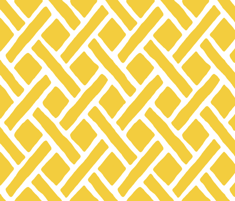 Savannah // Daffodil (F3CD3D) fabric by willowlanetextiles on Spoonflower - custom fabric